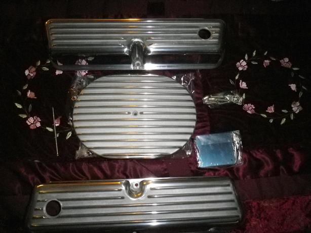 SMALL BLOCK FORD ALUMINUM AIR CLEANER AND VALVE COVERS