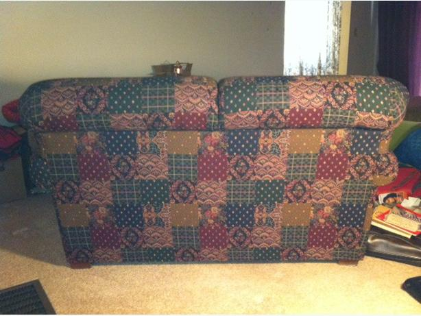 Country Patchwork Love Seat