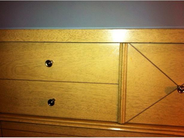 Vintage (60s) Blonde Dresser Set