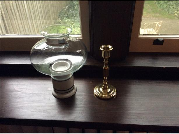 Dansk Candle Holder and Brass Candlestick