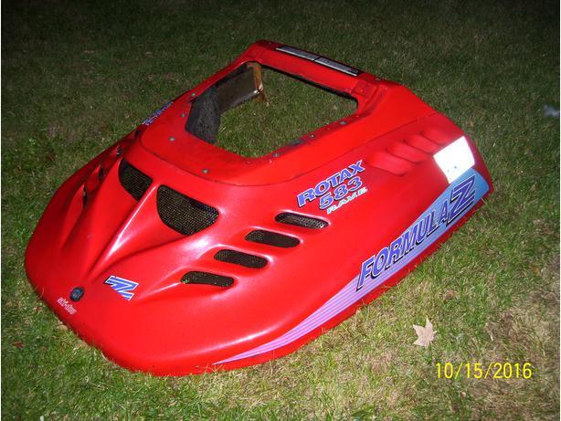 Skidoo Formula Z hood cab shroud Formula SS S STX Deluxe