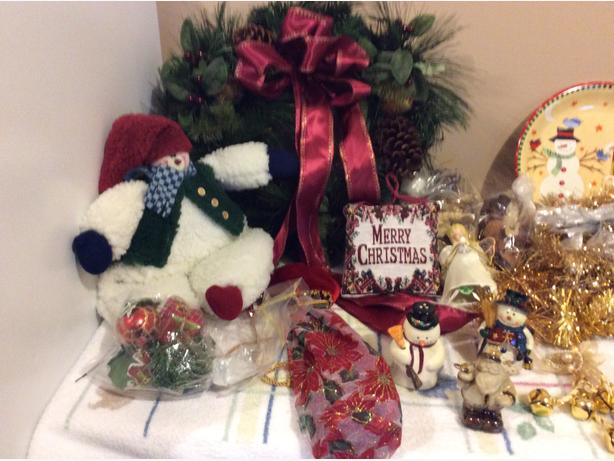 Assortment of Christmas decor