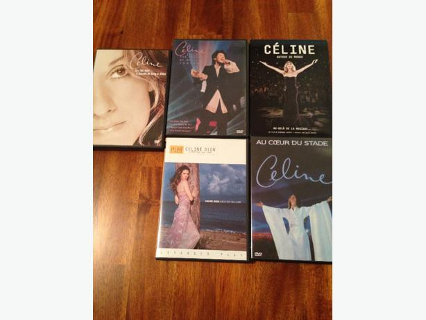 Lot of Celine Dion dvds