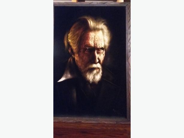 vintage black velvet painting