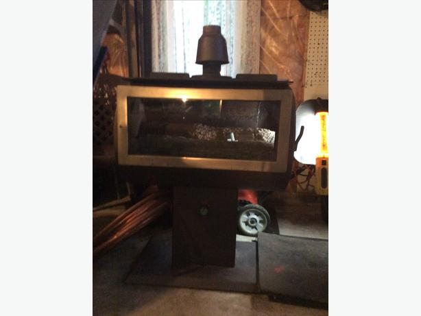 Propane  free standing fireplace