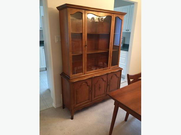 Fruitwood Buffet and Hutch