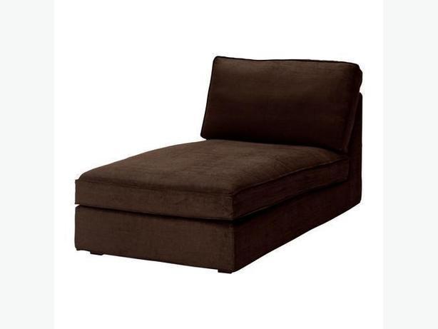 Ikea KIVIK Chaise Cover - Tullinge Dark Brown (Slipcover Only)