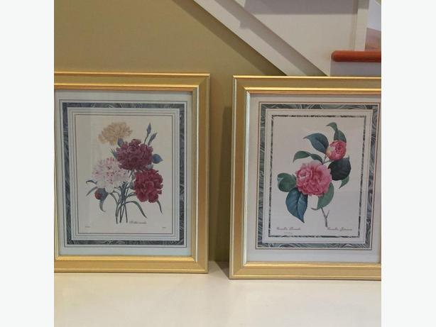 "Set of 24"" x 20"" Gold Framed Pictures"