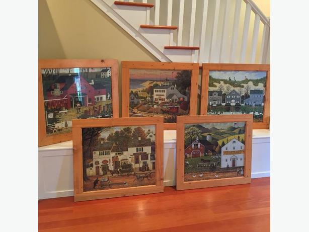 Rustic Pine Framed Charles Wysocki Puzzles