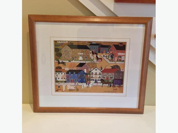 "27"" x 23"" Quality, Wood Framed Folk Art Print"