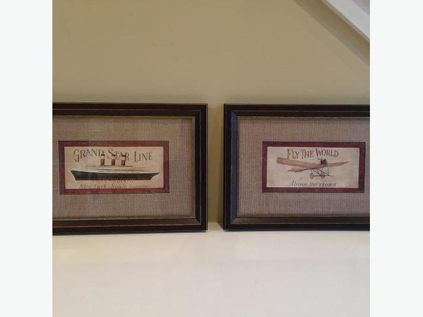 Quality Set of Matted, Wood Framed Prints