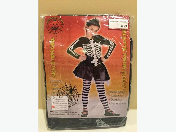 New Size Large Skeleton Girl Costume