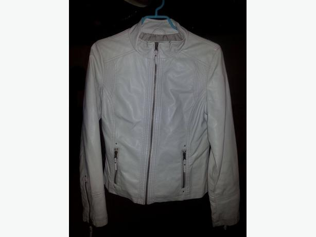 Cream or (of white)  jacket