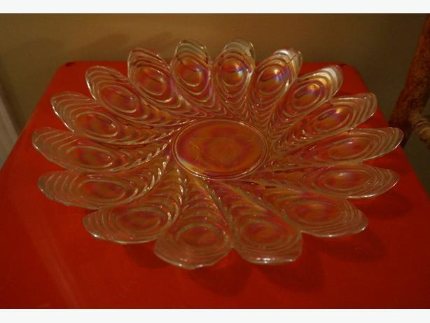 4u2c ANTIQUE OPALESCENT GLASS PLATTER