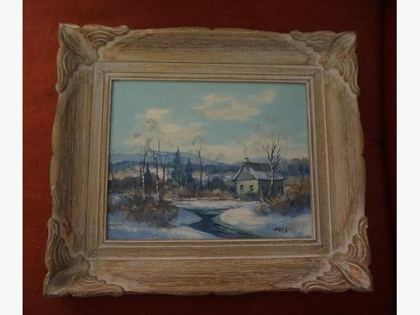 4u2c VINTAGE SIGNED PAINTING OIL ON BOARD T. ARLIS