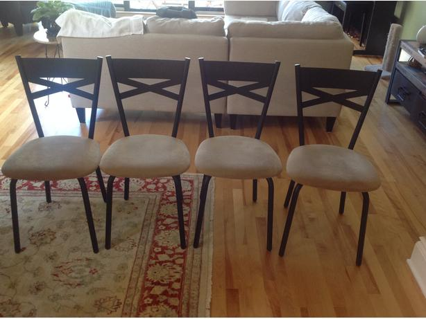 Four kitchen or dining room chairs