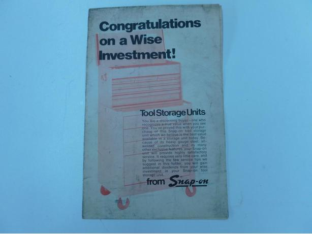Vintage Snap-On Tools  Care Booklet