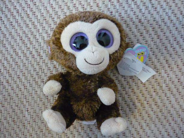Ty Beanie Boos COCONUT Brown Monkey Big Eyes Stuffed Animal