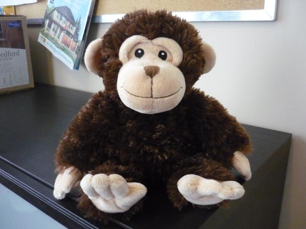 "16"" Monkey Shaggy Plush Stuffed Animal by First Impressions"
