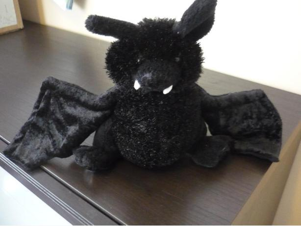 "Ganz Webkinz Black Bat 12"" Plush Stuffed Poseable Wings"