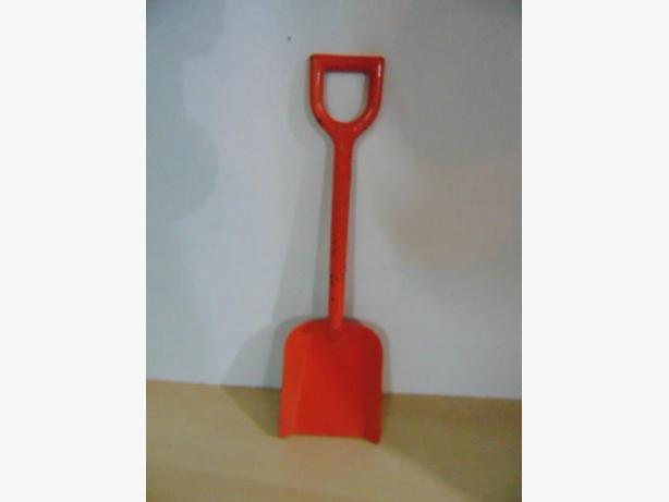 Vintage Toy 1960 All Metal Child's Sandbox Shovel Orange 12 inches