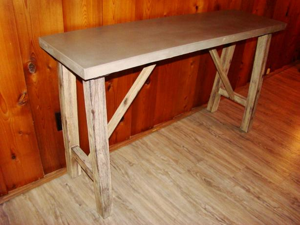Cement Top Console Table