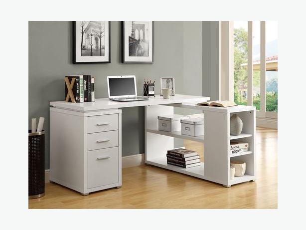 Computer Desk - White L-Shape