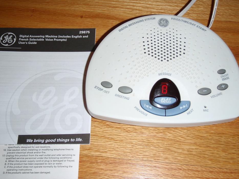 ge digital answering machine east regina regina rh usedregina com GE Answering Machine 29875GE1 B AT&T Digital Answering Machine