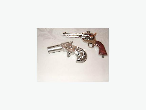 vintage miniature metal cap guns