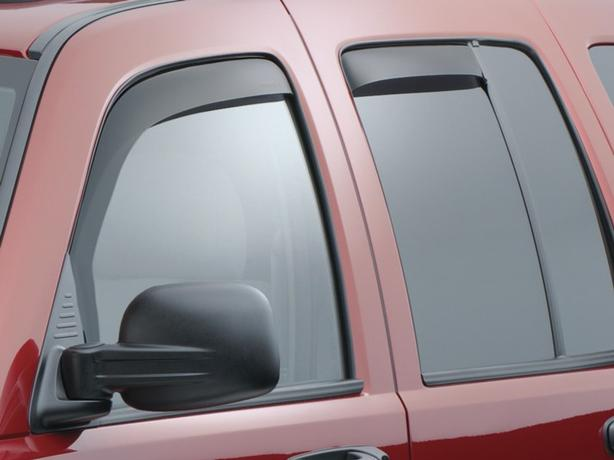 Jeep liberty Weather Tech Window Guards & Hood Protector 02-07