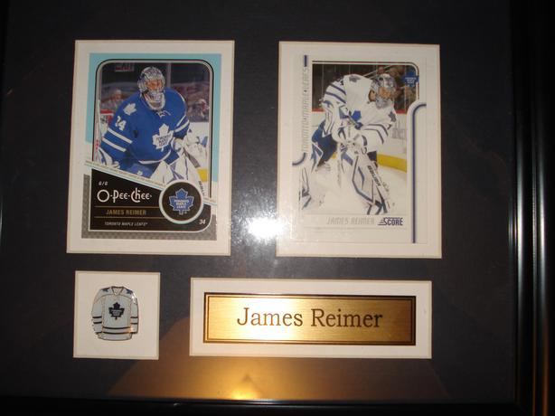 framed hockey cards
