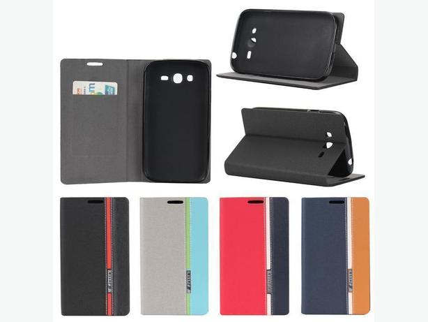 Premium Folio Leather Wallet Case for Sony Xperia M2
