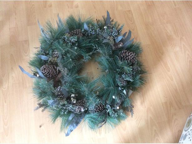 Christmas wreath .. never been used