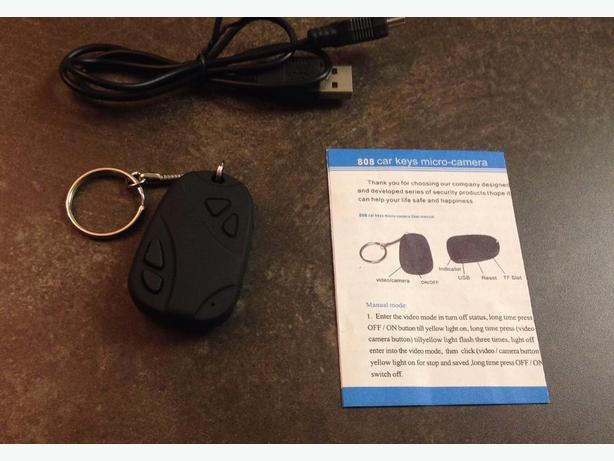 New car keychain with hidden spy camera