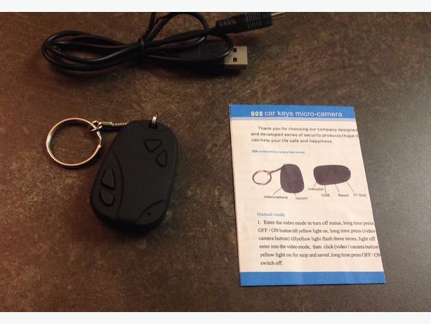 New car keychain with hidden spy camera