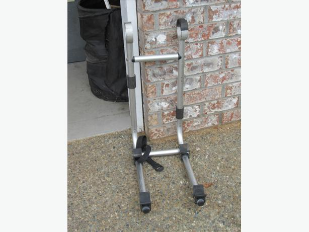 Bike rack for RV ladder