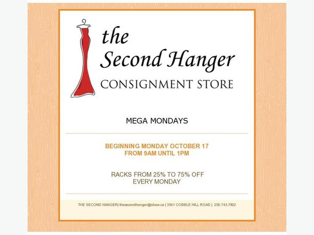 Mega Mondays 25%-75% off EVERY Rack