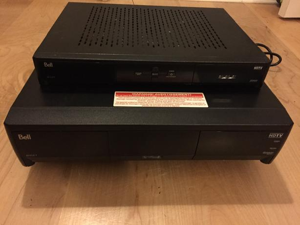 one bell HD PVR and one HD box