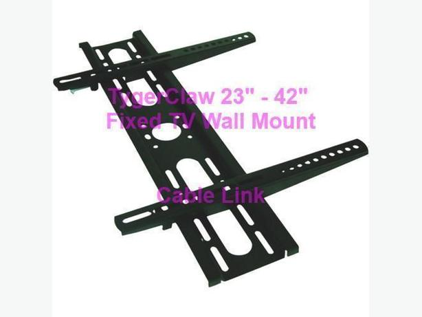 "TygerClaw Fixed Wall Mount 23"" to 42"" LCD1319BLK"