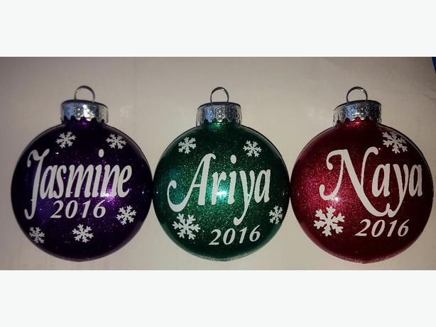 Brand new Glitter Ornaments!