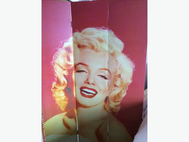Marilyn Munroe Trifold Folding Screen