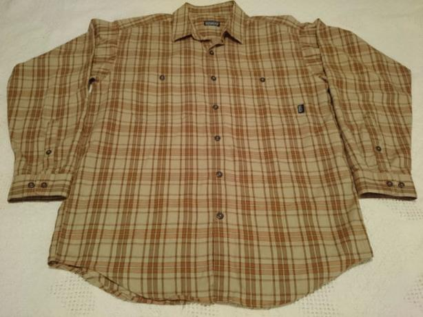 Men's PATAGONIA SHIRT *XL* Organic Cotton LONG-SLEEVE Button-Up