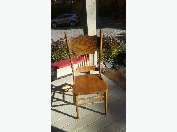 WANTED: Six Oak pressed back chairs