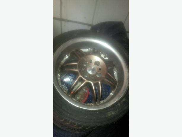 "17""momo,15""borbit with good winter tire other rim for 150,"