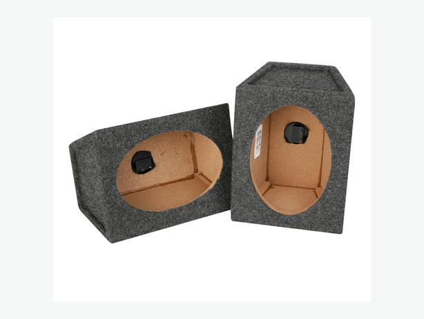 """Bassworx Sealed Box for 6"""" x 9"""" Subwoofer (6911CX2) Pairs"""