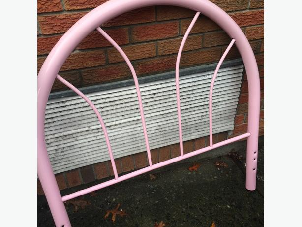 pink twin headboard