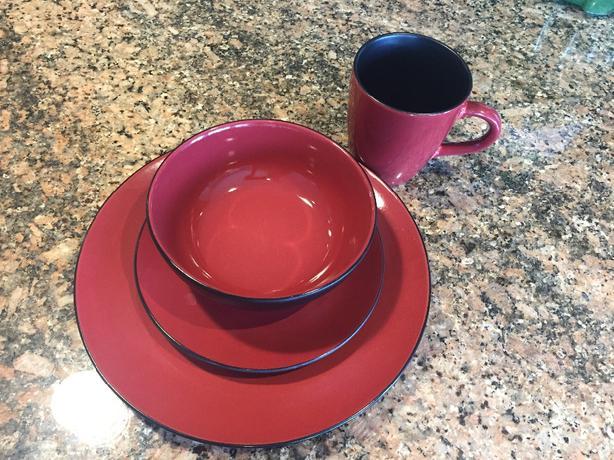 4 sets of Corelle stoneware dishes