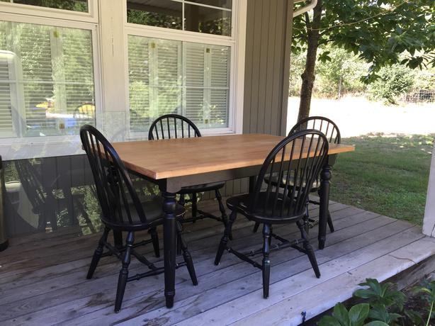 Farmhouse dining/kitchen table and chairs
