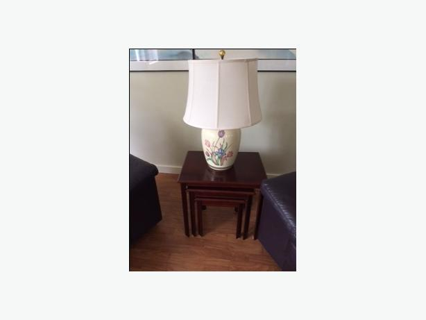 Nested Tables and assorted lamps