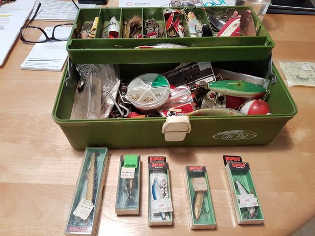 """Fishing tackle box for sale"""